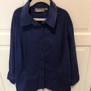 👚CROFT & BARROW petite/stretch blouse